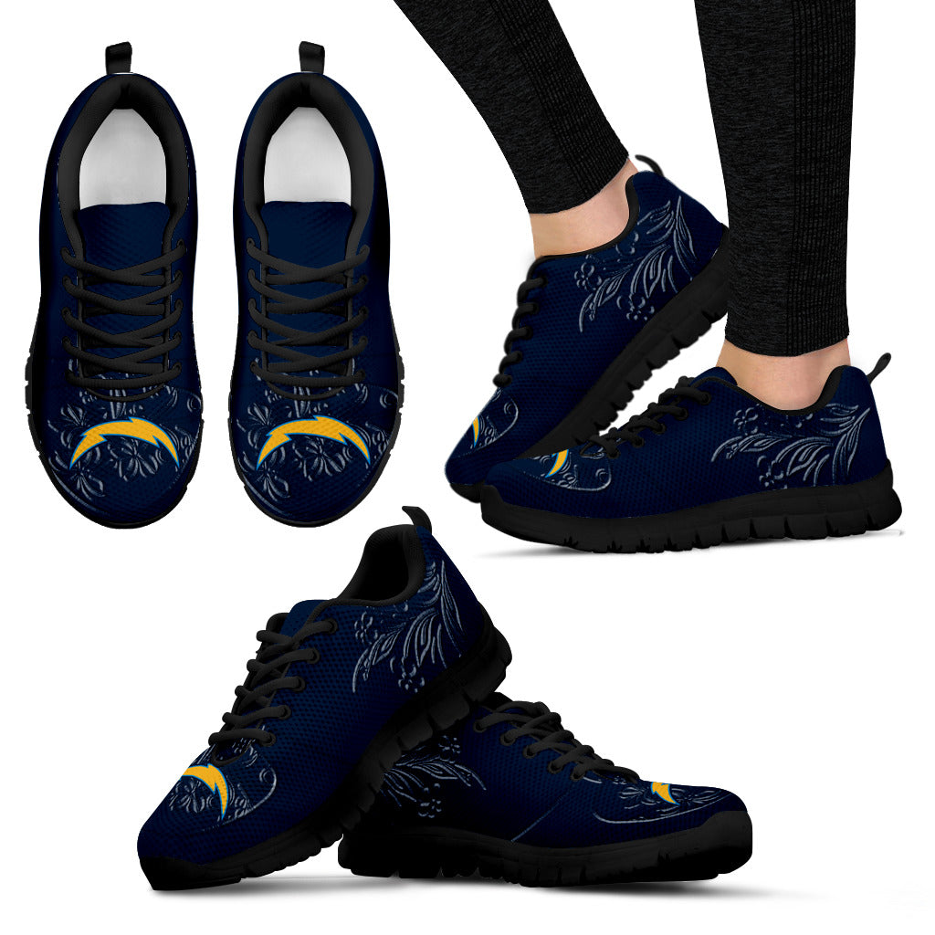 Lovely Floral Print Los Angeles Chargers Sneakers