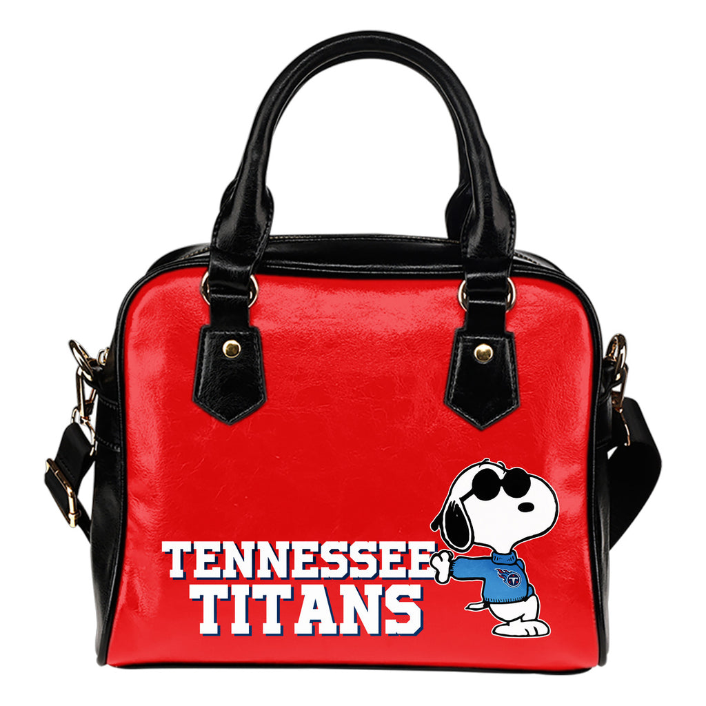 Tennessee Titans Cool Sunglasses Snoopy Shoulder Handbags Women Purse
