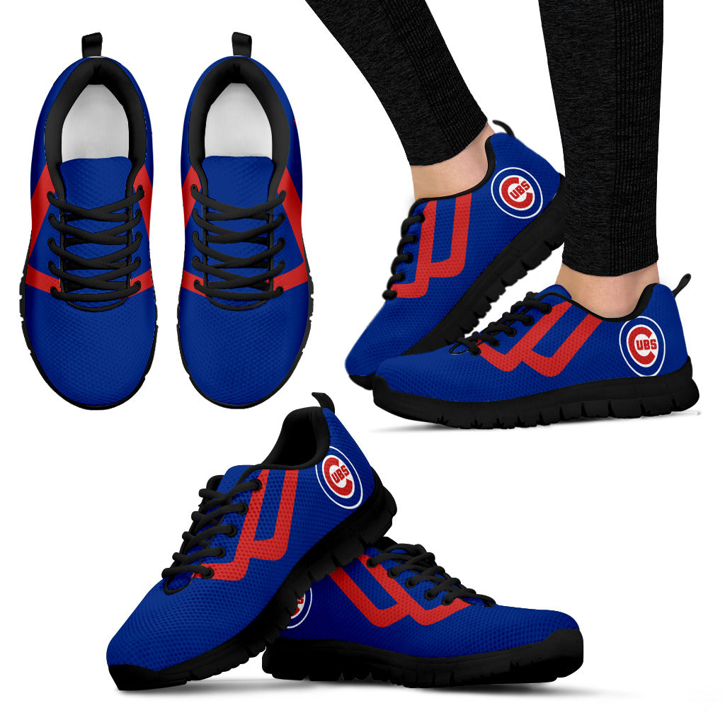 Line Bottom Straight Chicago Cubs Sneakers