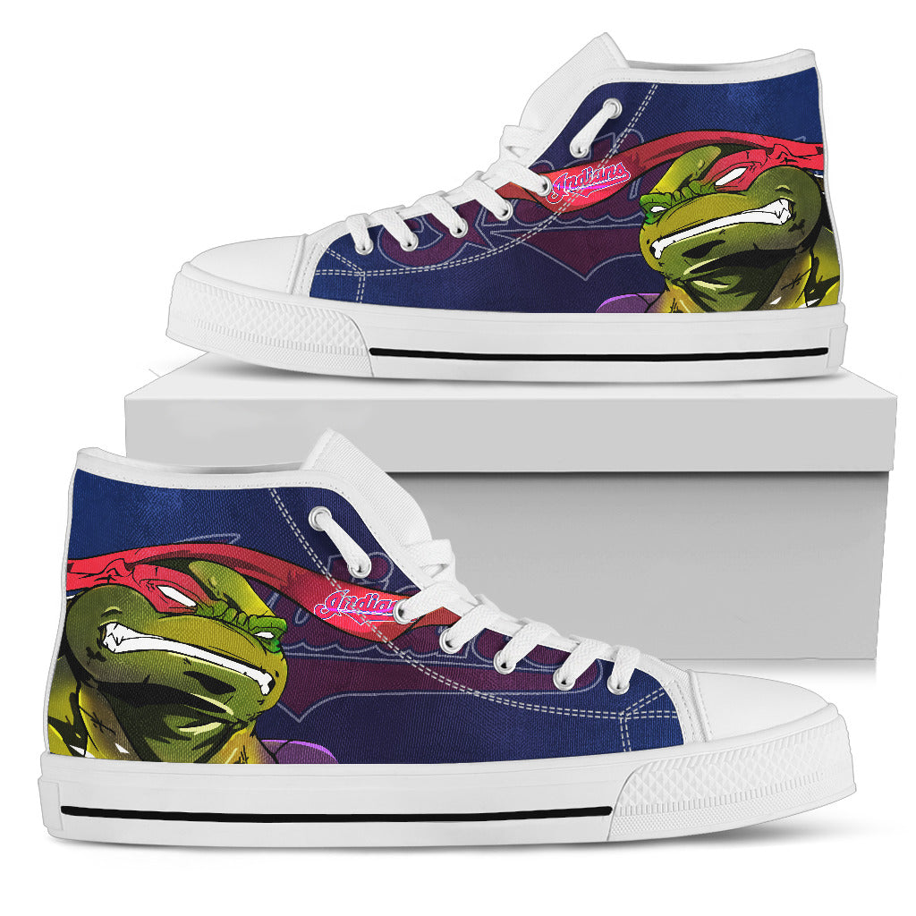 Turtle Cleveland Indians Ninja High Top Shoes