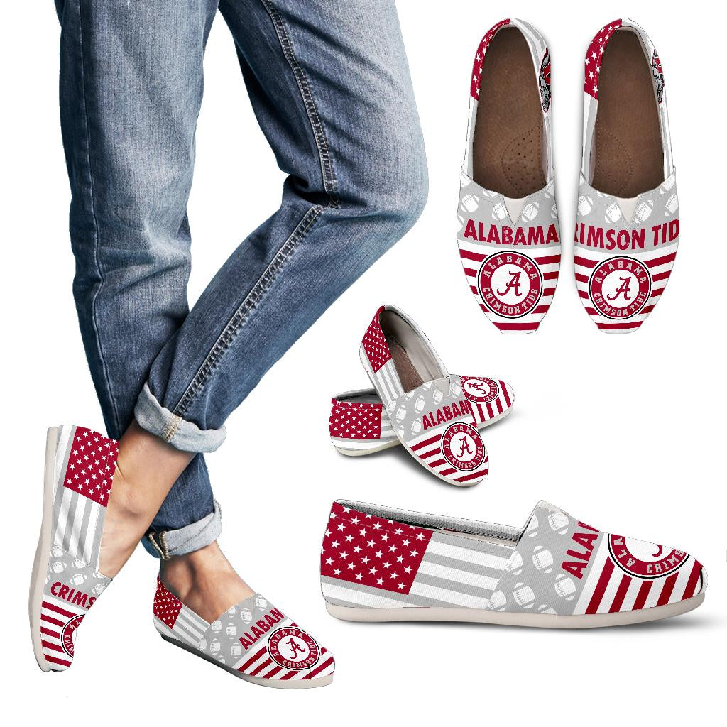 American Flag Alabama Crimson Tide Casual Shoes