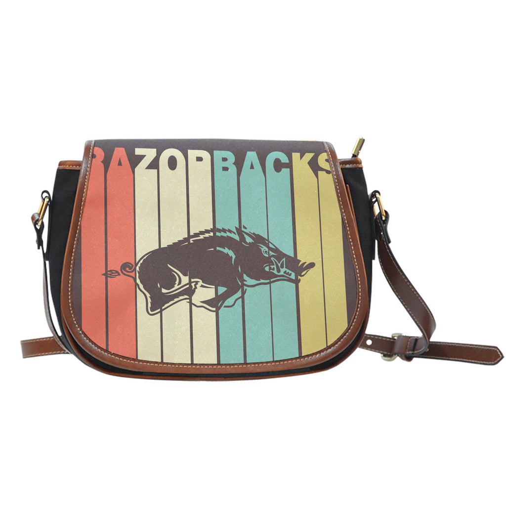 Vintage Style Arkansas Razorbacks Saddle Bags - Best Funny Store
