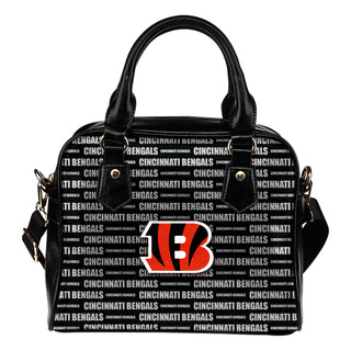 Nice Little Logo Cincinnati Bengals Shoulder Handbags