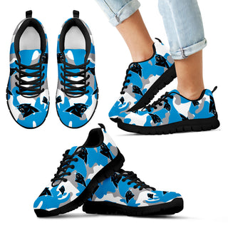 Carolina Panthers Cotton Camouflage Fabric Military Solider Style Sneakers