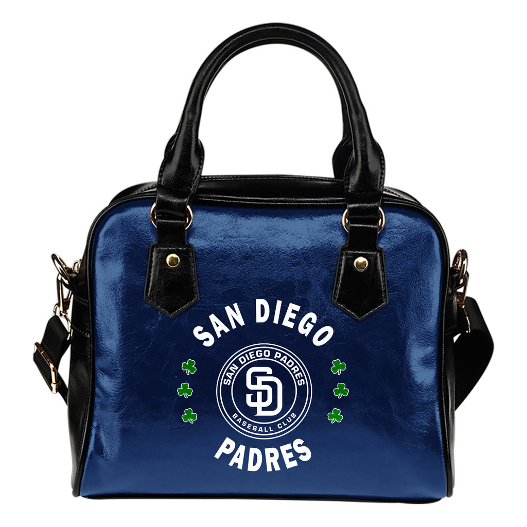 Central Beautiful Logo Circle Lucky Leaf San Diego Padres Shoulder Handbags