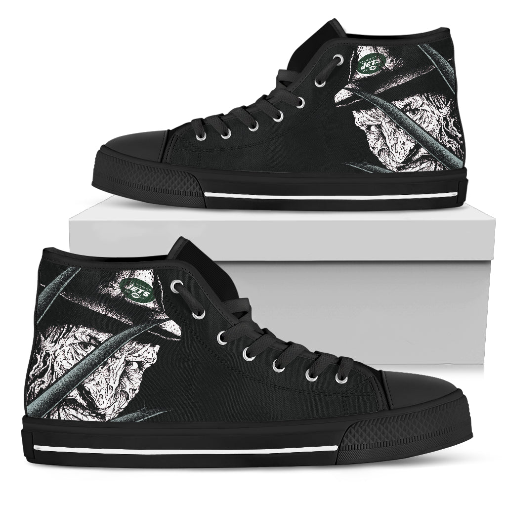 New York Jets Nightmare Freddy Colorful High Top Shoes