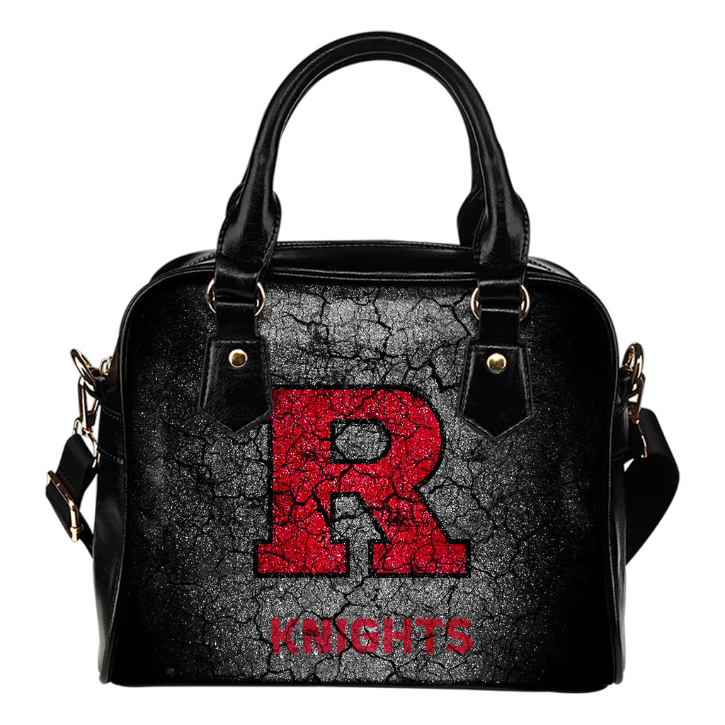 Wall Break Rutgers Scarlet Knights Shoulder Handbags Women Purse