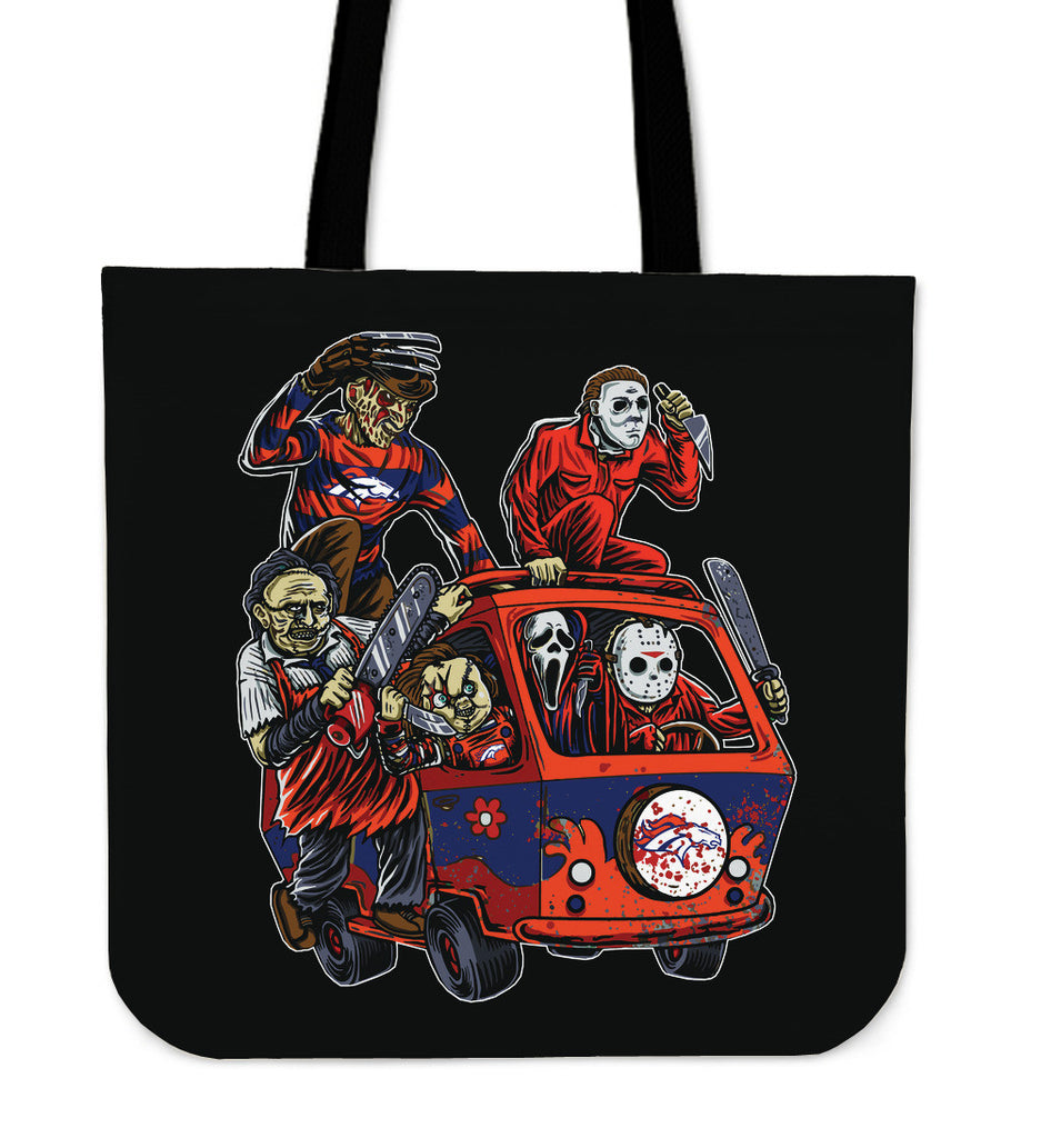 Denver Broncos The Massacre Machine Tote Bag - Best Funny Store