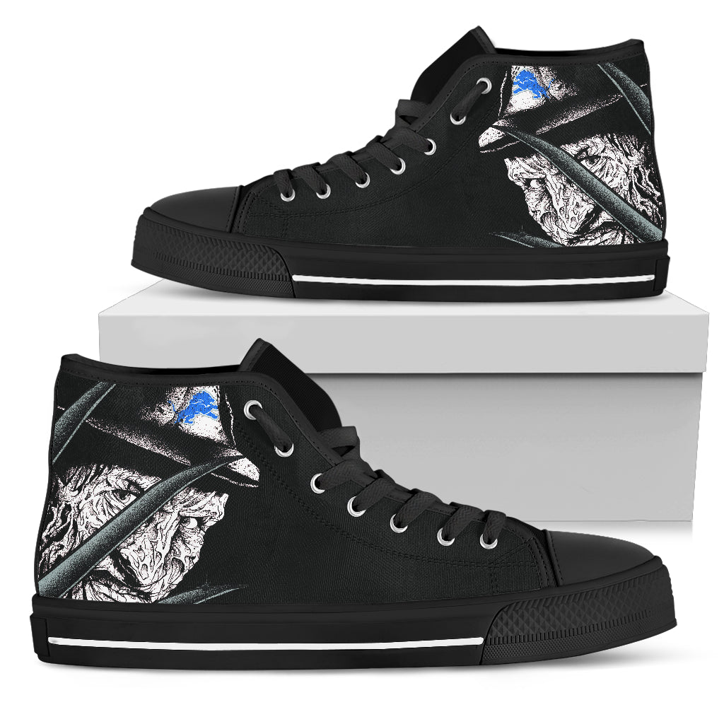 Detroit Lions Nightmare Freddy Colorful High Top Shoes