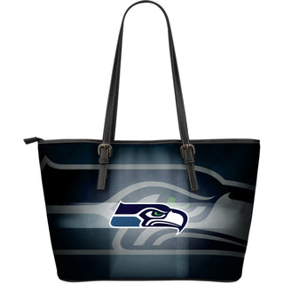 Seattle Seahawks Light Logo Large Leather Bags