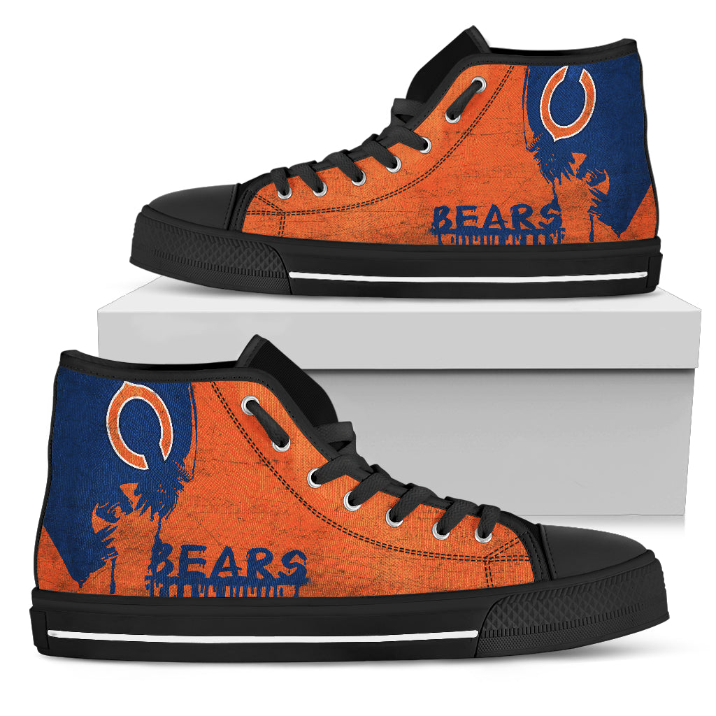 Alien Movie Chicago Bears High Top Shoes