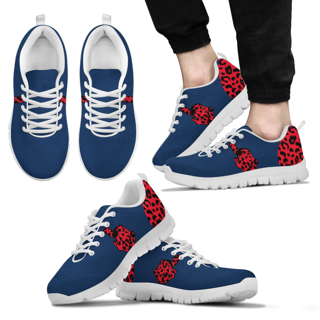 Cheetah Pattern Fabulous Cleveland Indians Sneakers
