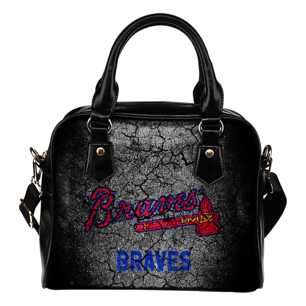 Wall Break Atlanta Braves Shoulder Handbags Women Purse