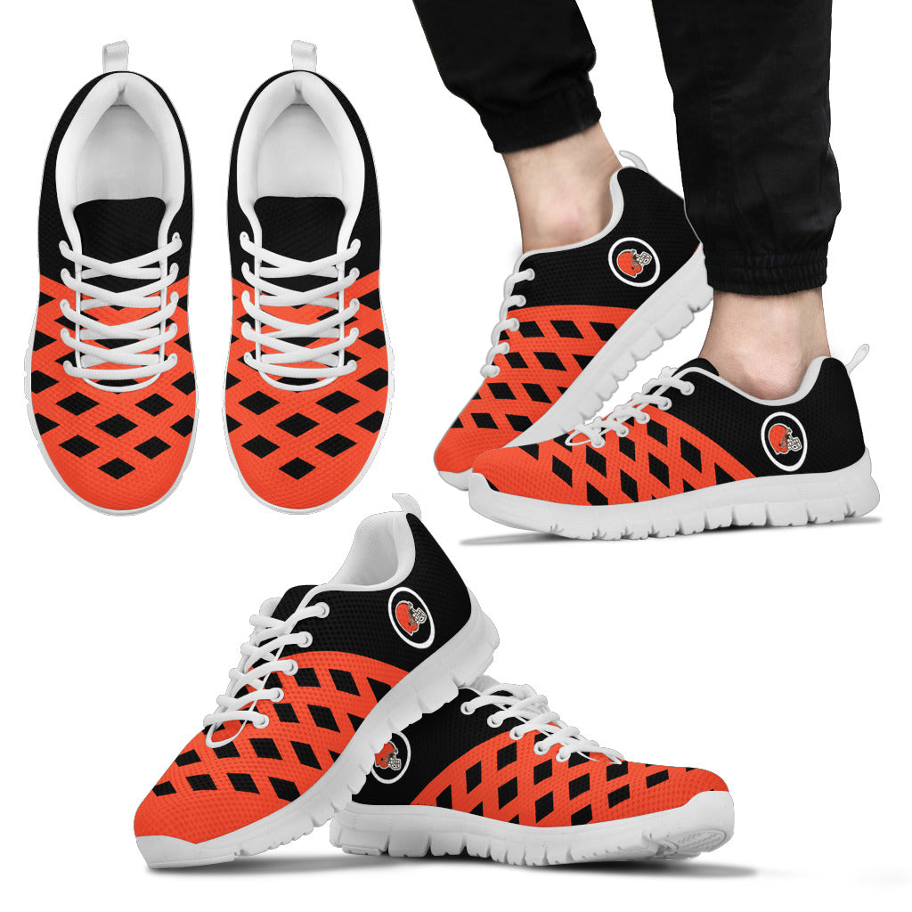 Two Colours Cross Line Cleveland Browns Sneakers