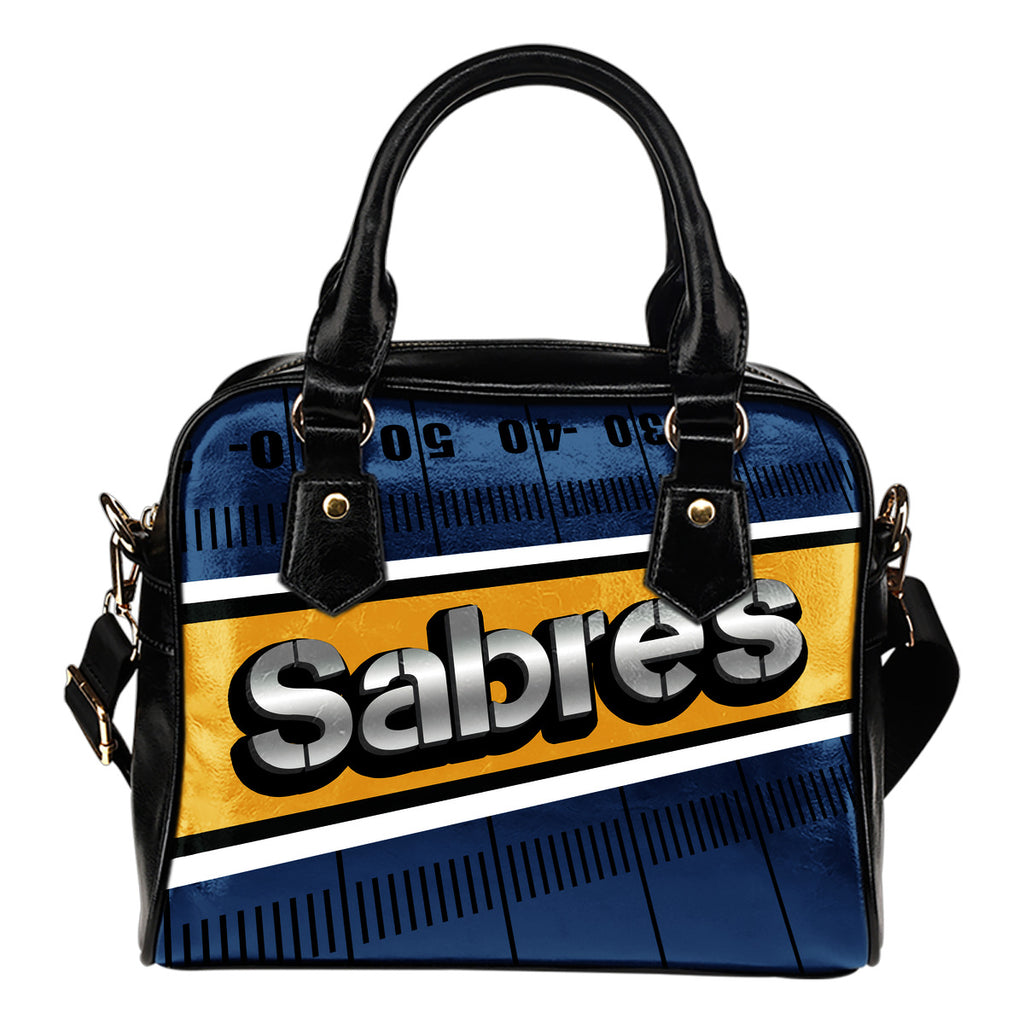 Buffalo Sabres Silver Name Colorful Shoulder Handbags