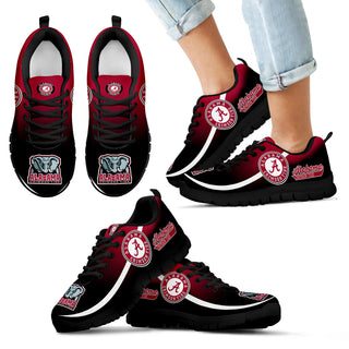 Mystery Straight Line Up Alabama Crimson Tide Sneakers