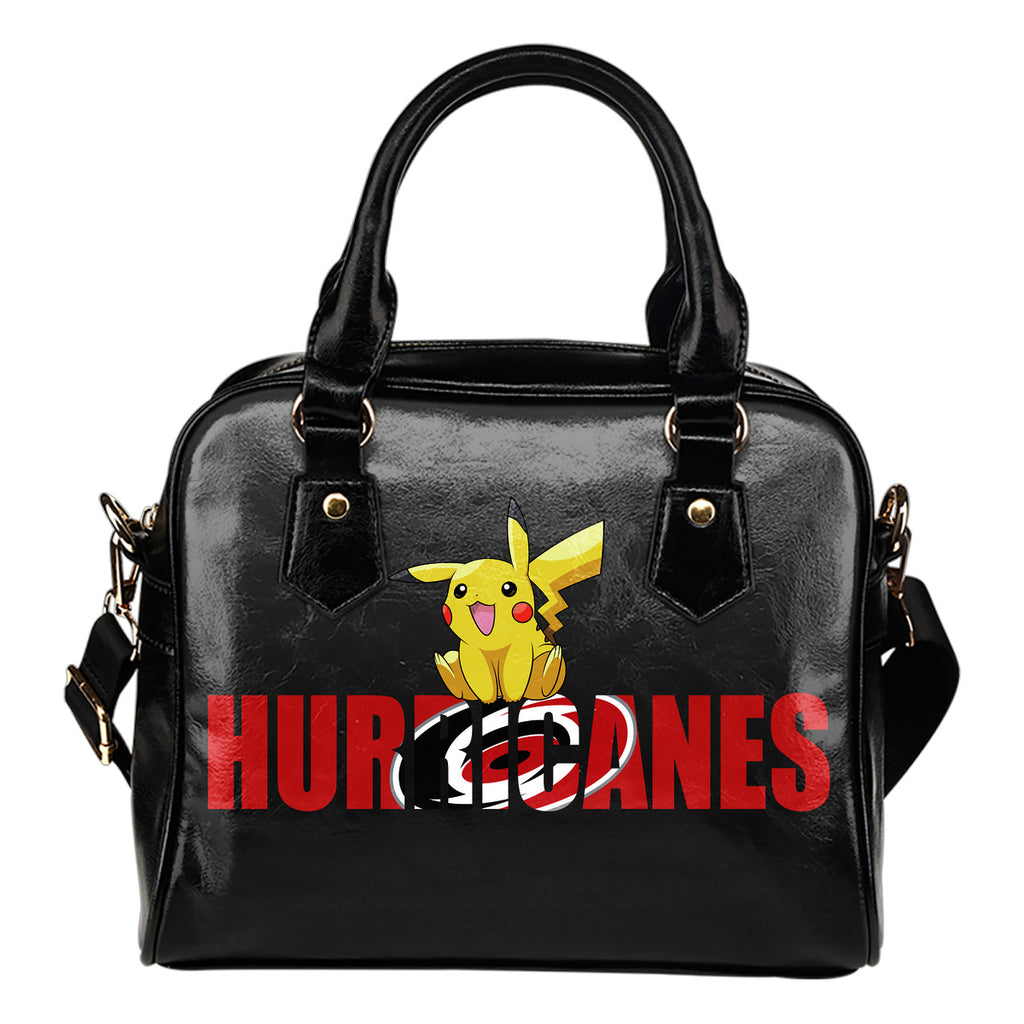 Pokemon Sit On Text Carolina Hurricanes Shoulder Handbags