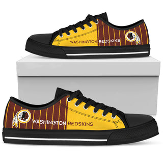 Simple Design Vertical Stripes Washington Redskins Low Top Shoes