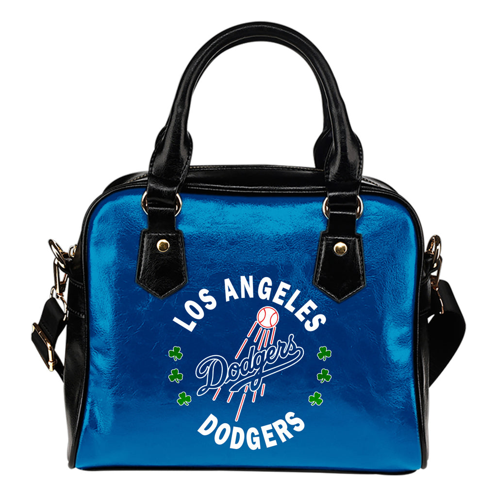 Central Beautiful Logo Circle Lucky Leaf Los Angeles Dodgers Shoulder Handbags