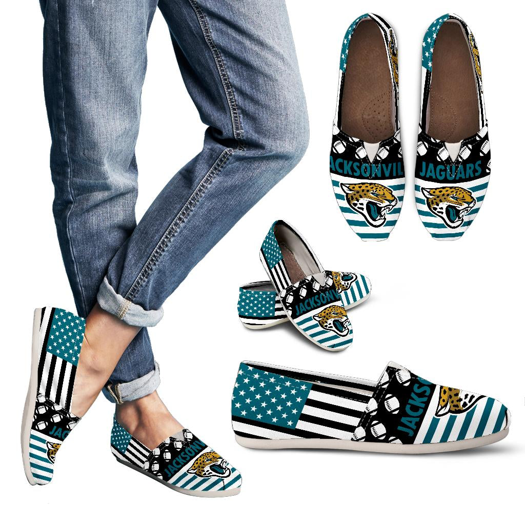 American Flag Jacksonville Jaguars Casual Shoes