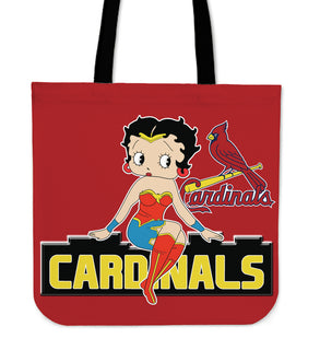 Wonder Betty Boop St. Louis Cardinals Tote Bags