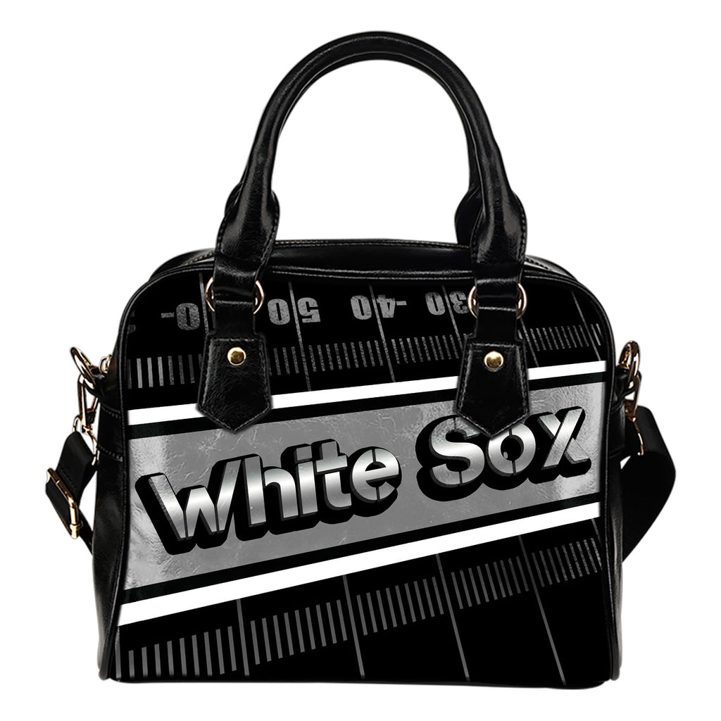 Chicago White Sox Silver Name Colorful Shoulder Handbags
