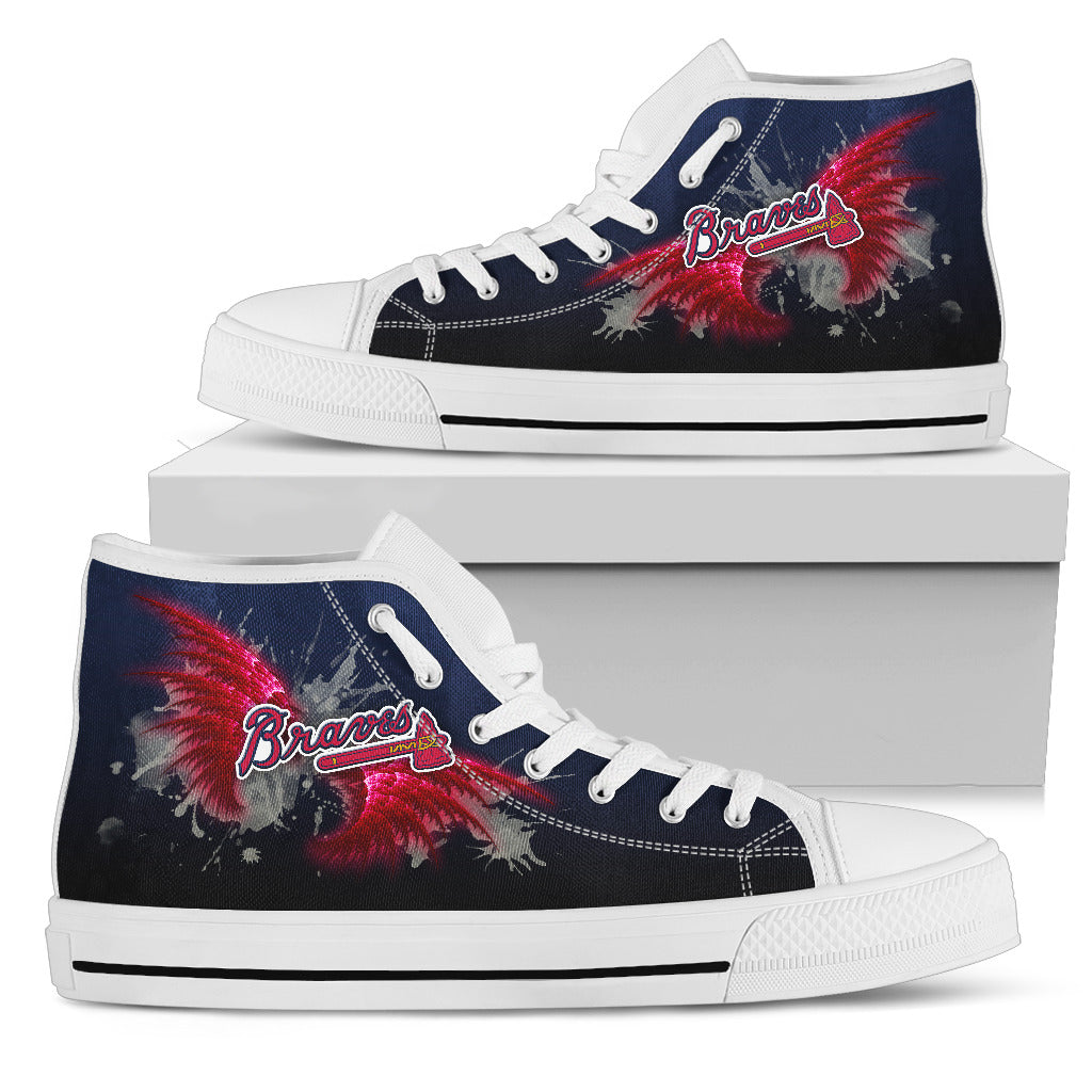 ANGLE WINGS ATLANTA BRAVES HIGH TOP SHOES
