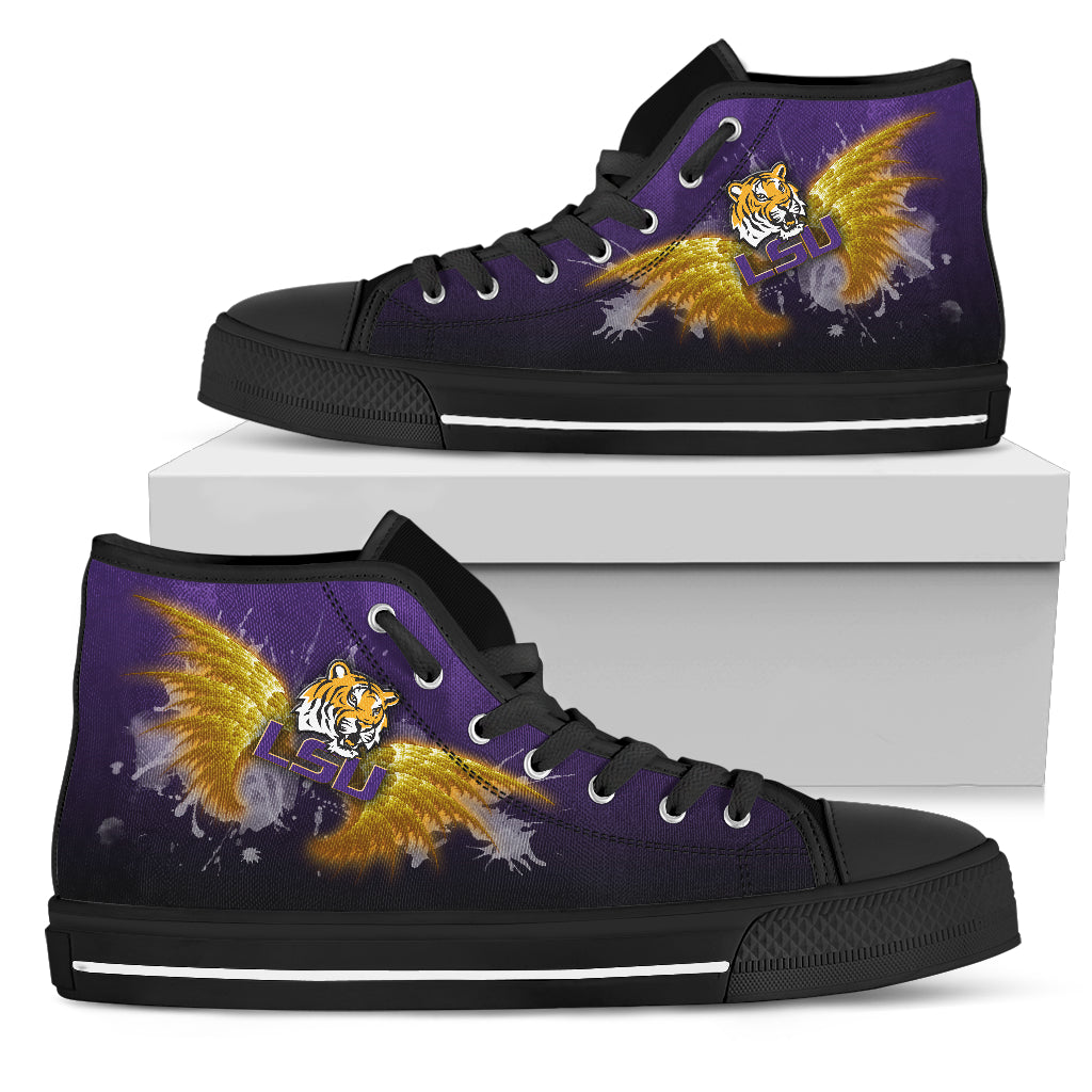 Angel Wings LSU Tigers High Top Shoes