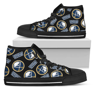 Script Logo Pattern Buffalo Sabres High Top Shoes