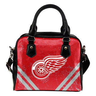 Couple Curves Light Good Logo Detroit Red Wings Shoulder Handbags