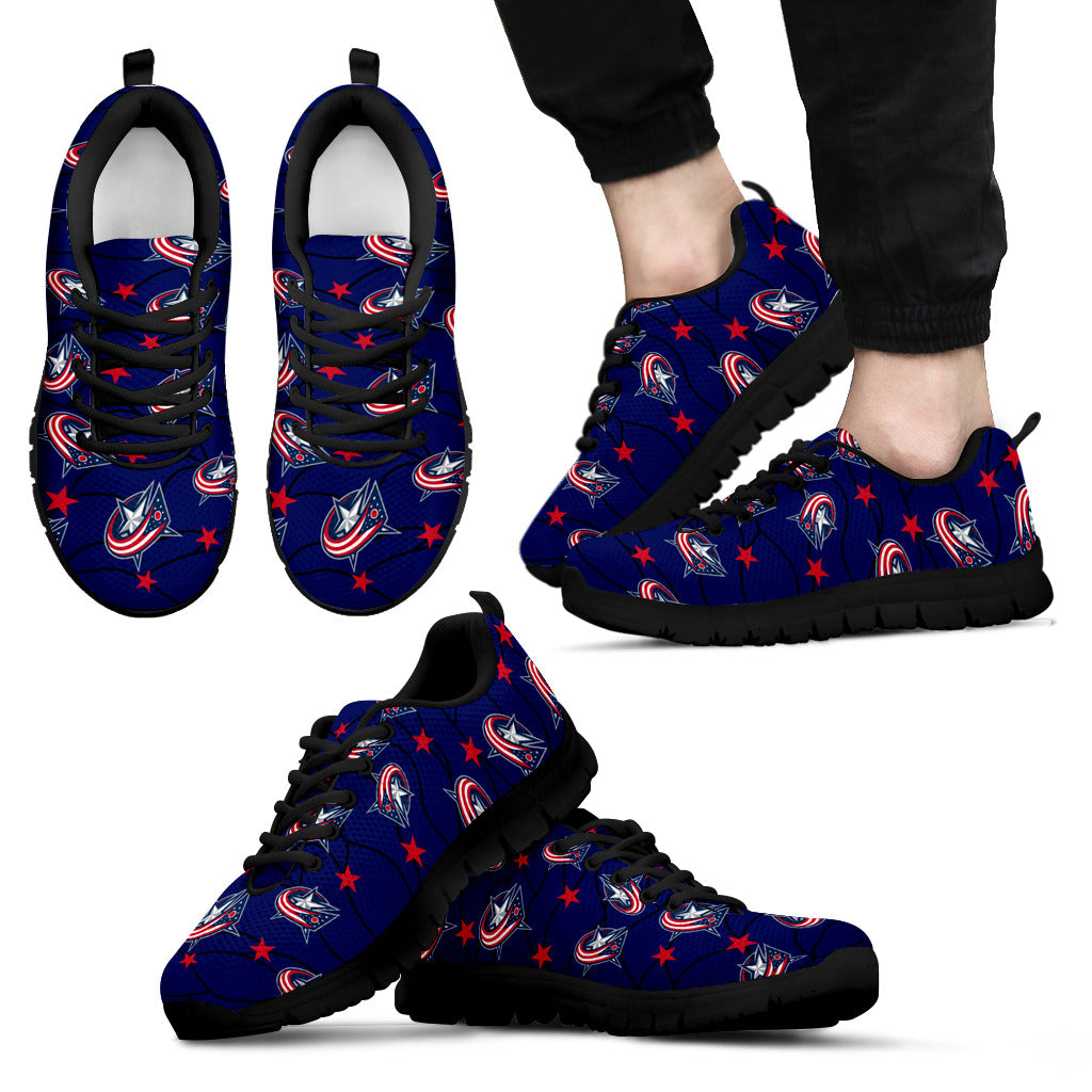 Star Twinkle Night Columbus Blue Jackets Sneakers