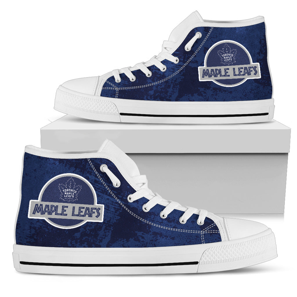 Jurassic Park Toronto Maple Leafs High Top Shoes