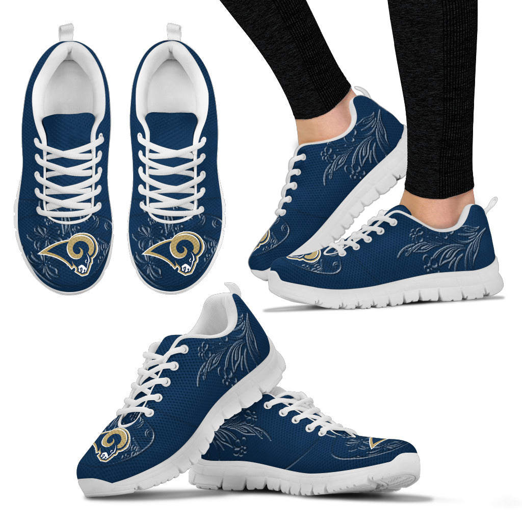 Lovely Floral Print Los Angeles Rams Sneakers