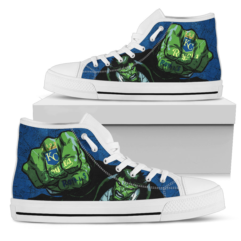Hulk Punch Kansas City Royals High Top Shoes