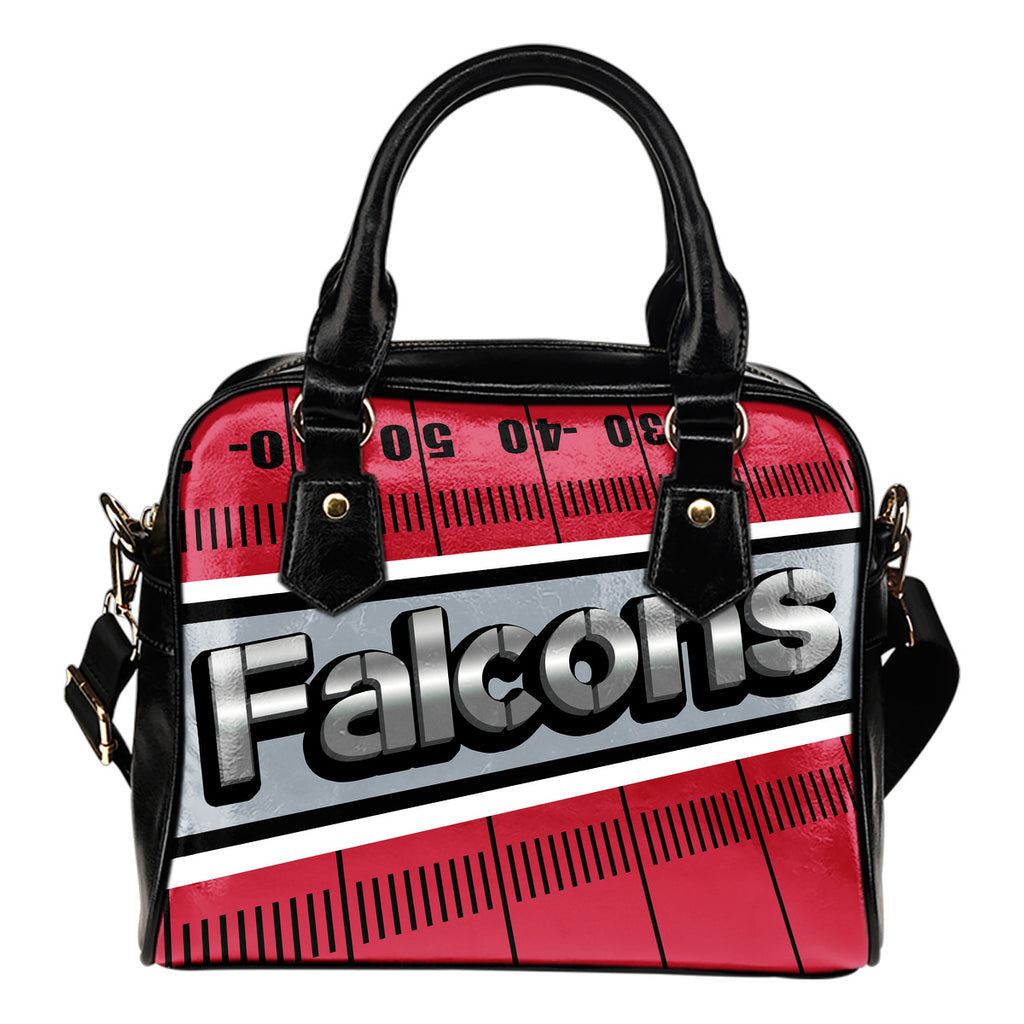 Atlanta Falcons Silver Name Colorful Shoulder Handbags