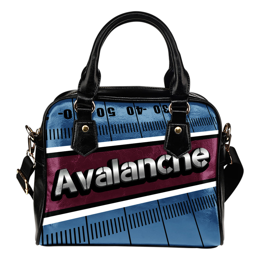 Colorado Avalanche Silver Name Colorful Shoulder Handbags