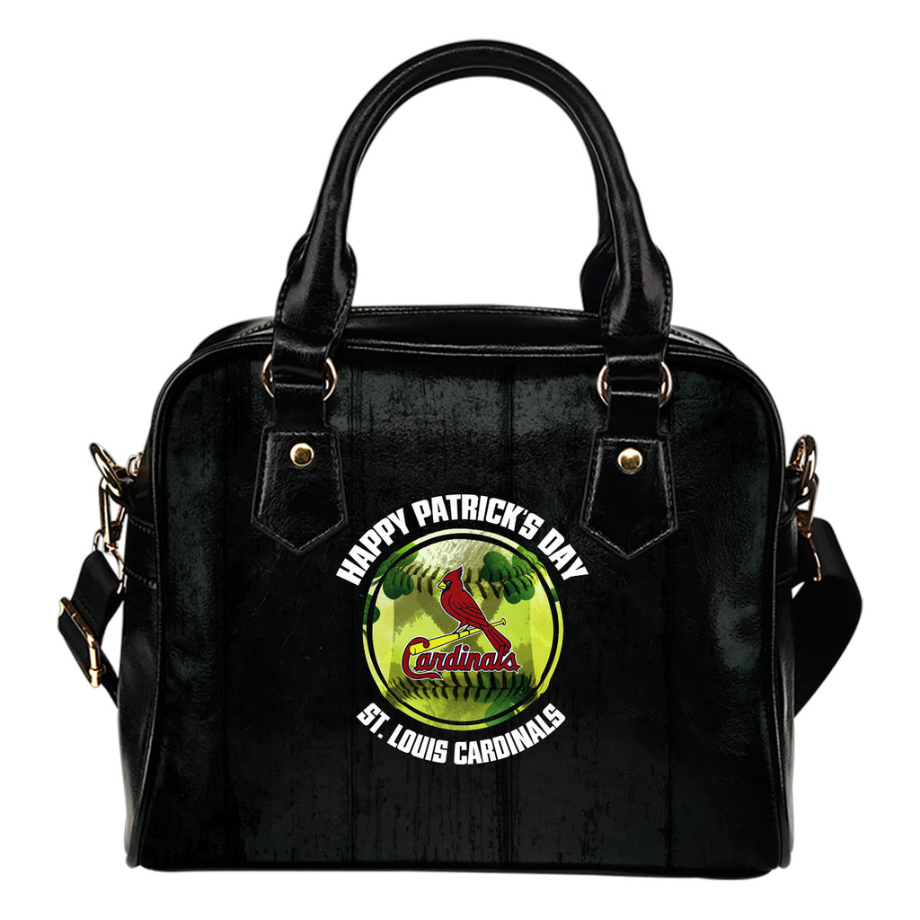 Retro Scene Lovely Shining Patrick's Day St. Louis Cardinals Shoulder Handbags