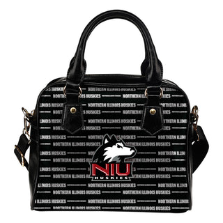 Nice Little Logo Northern Illinois Huskies Shoulder Handbags