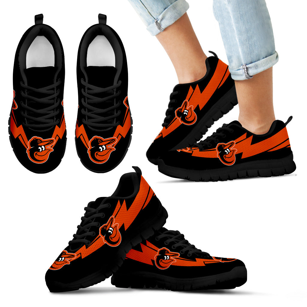 Three Amazing Good Line Charming Logo Baltimore Orioles Sneakers