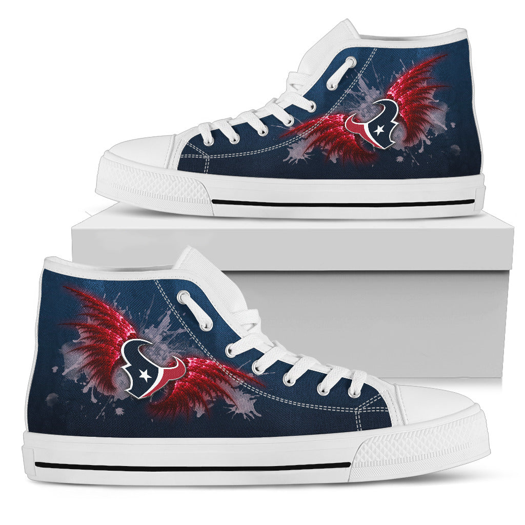 Angel Wings Houston Texans High Top Shoes