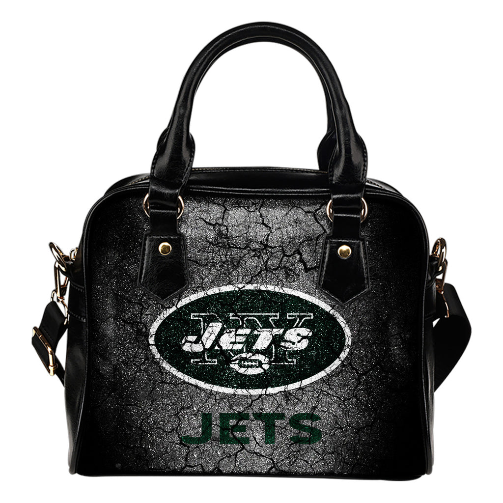 Wall Break New York Jets Shoulder Handbags Women Purse