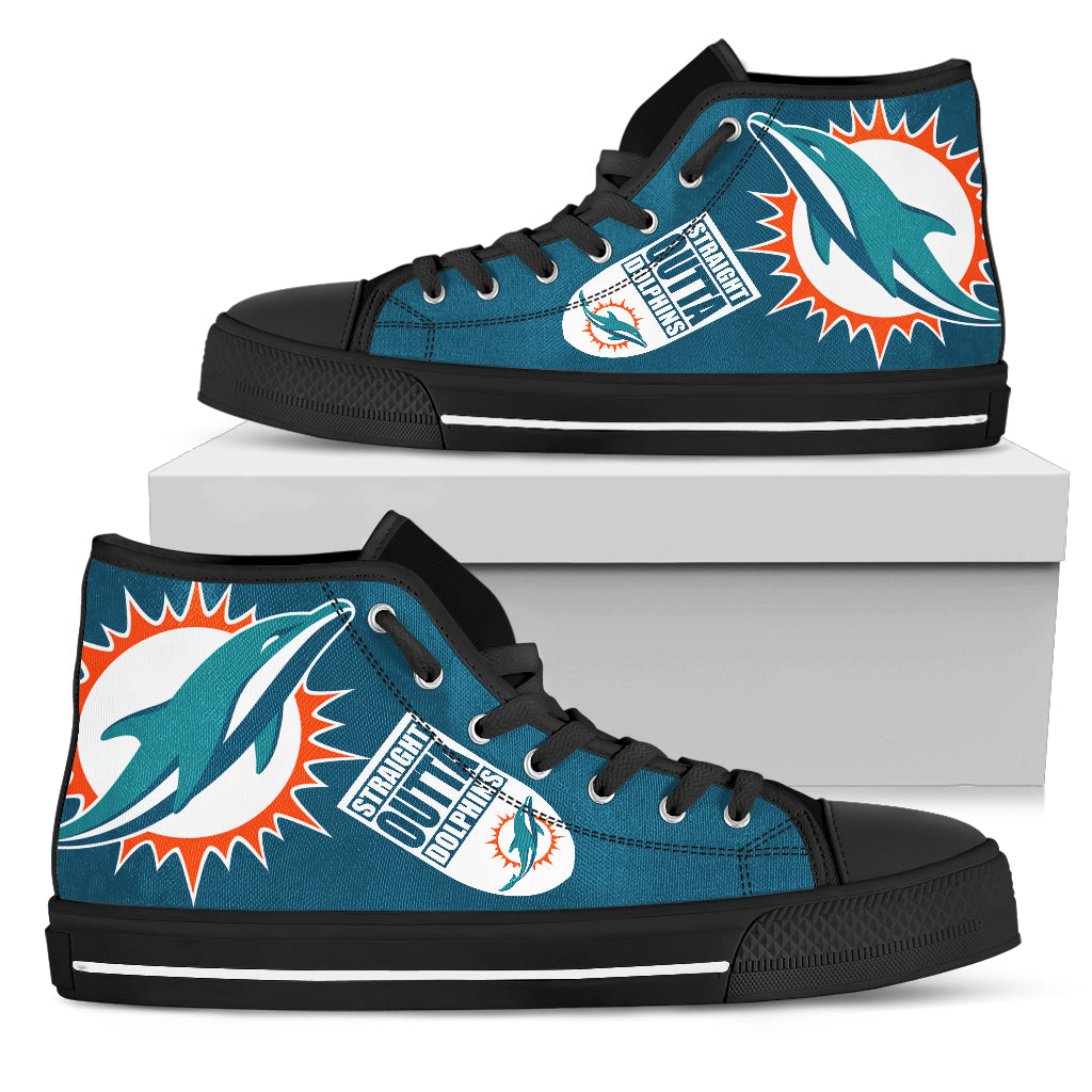 88efa6d9 Straight Outta Miami Dolphins High Top Shoes