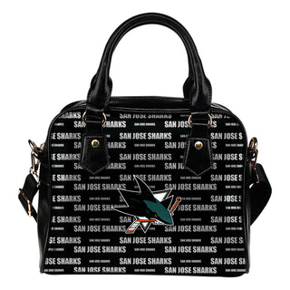 Nice Little Logo San Jose Sharks Shoulder Handbags