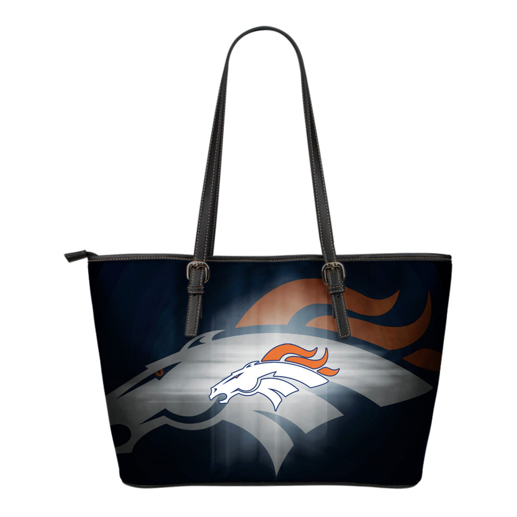 Denver Broncos Light Logo Leather Bags