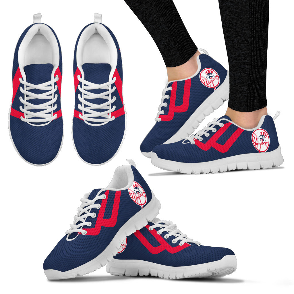 Line Bottom Straight New York Yankees Sneakers
