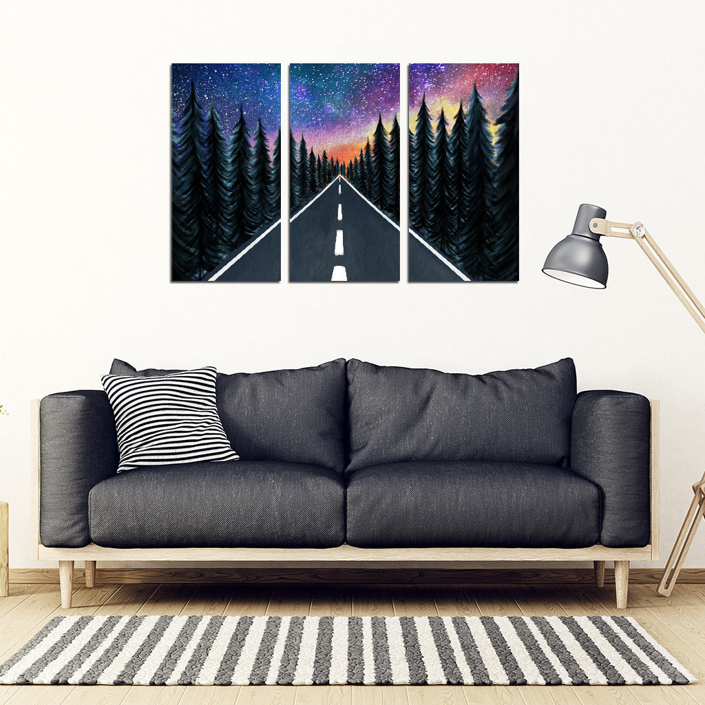 Rolling Under A Starry Sky Camping Canvas Prints