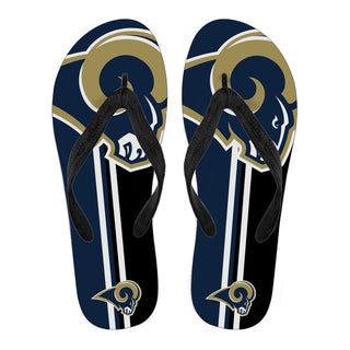 Los Angeles Rams Fan Gift Two Main Colors Flip Flops