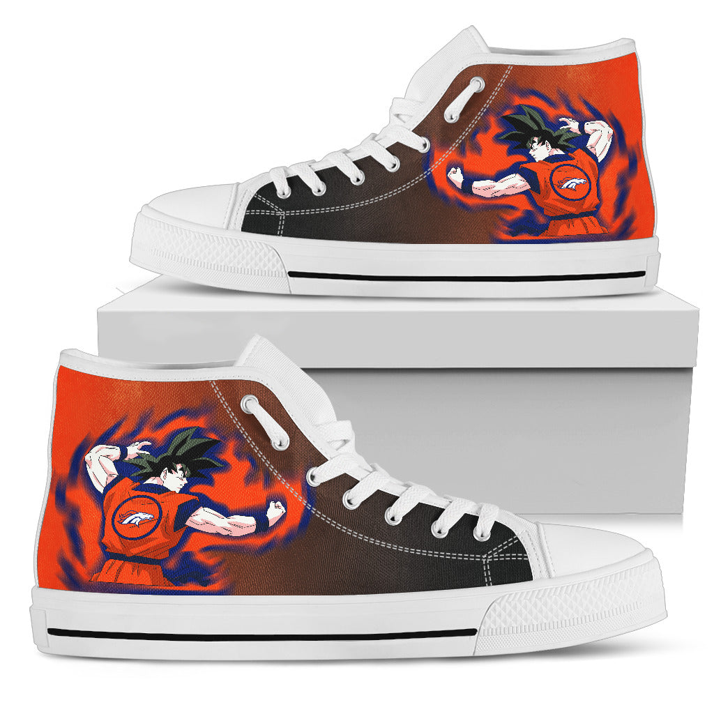 Son Goku Saiyan Power Denver Broncos High Top Shoes