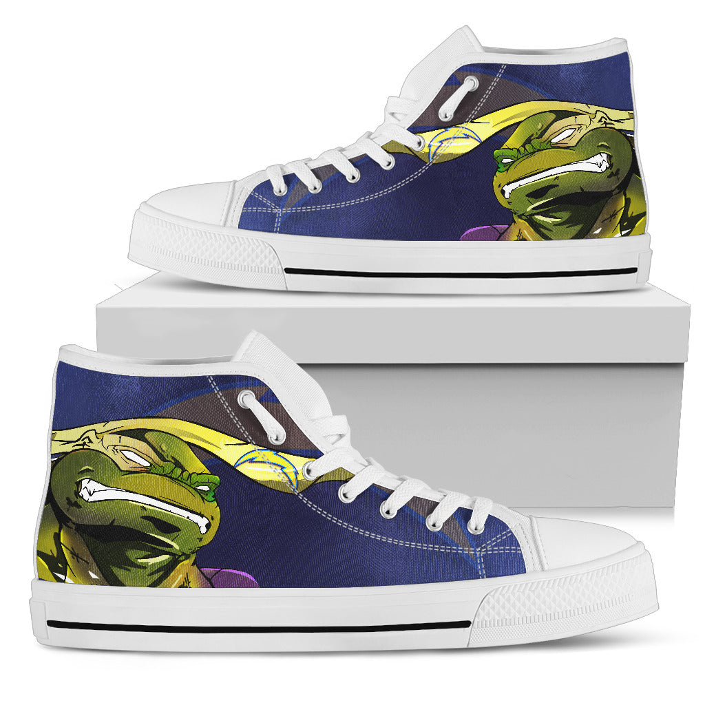 Turtle Los Angeles Chargers Ninja High Top Shoes
