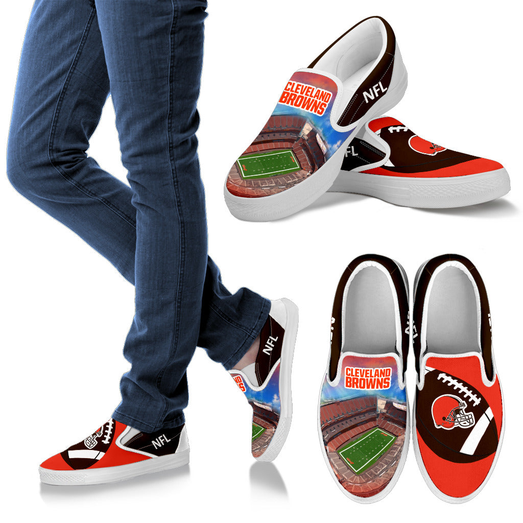 Proud Of Stadium Cleveland Browns Slip-on Shoes